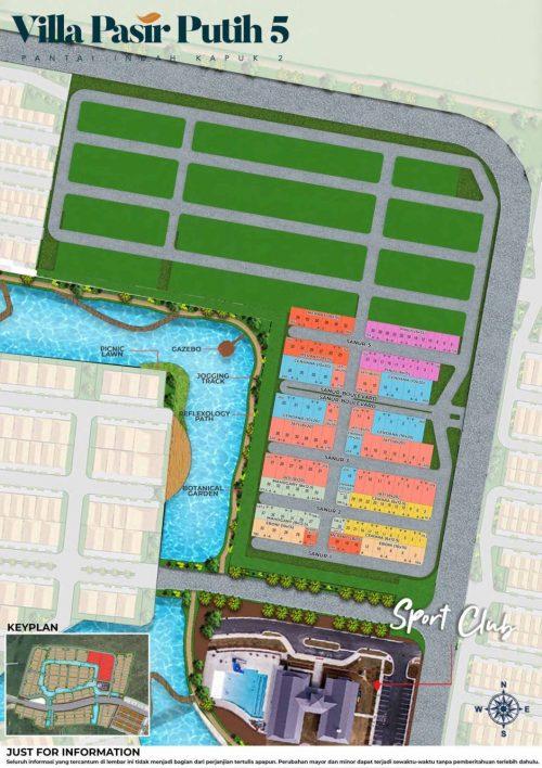 Siteplan Villa Pasir Putih 5 – PIK2 (2)