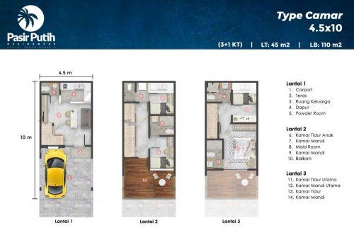 Tipe Unit Villa Pasir Putih 10 PIK2 (2)