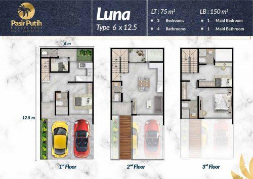 Tipe Unit Villa Pasir Putih Double Decker – PIK2 (1)